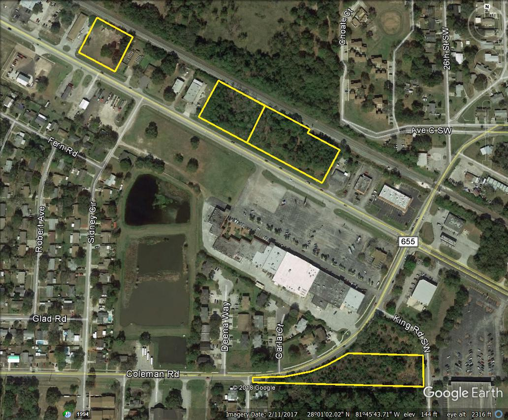 Absolute 4 Commercial Lots In Winter Haven, FL Begins Wednesday, May 9, Ends  3 P.M. Wednesday, May 16
